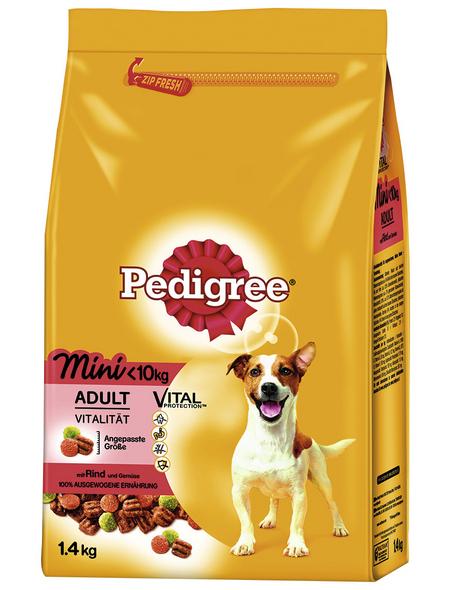 PEDIGREE Hundetrockenfutter »Vital Protection Mini«, Rind / Gemüse, 6 x 1,4 kg