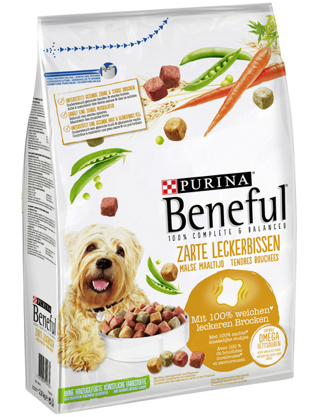 BENEFUL Hundetrockenfutter »Zarte Leckerbissen«, 2,8 kg, Rind