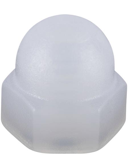 CONNEX Hutmuttern, M3, Weiß, Polyamid