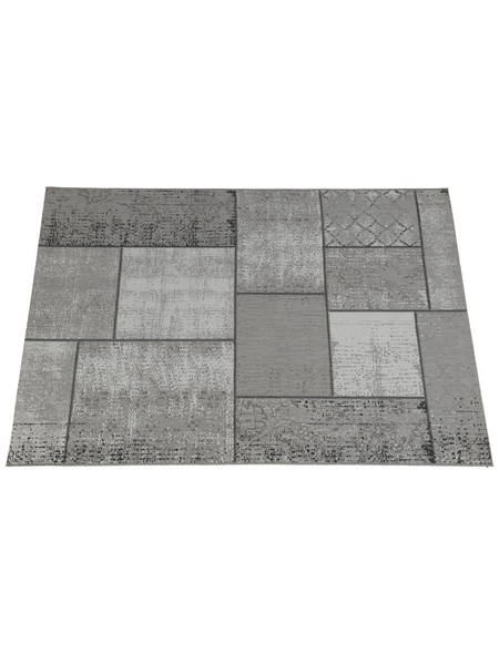 GARDEN IMPRESSIONS In- und Outdoor Teppich »Blocko«, BxL: 230 x 160 cm, dark sand/grau