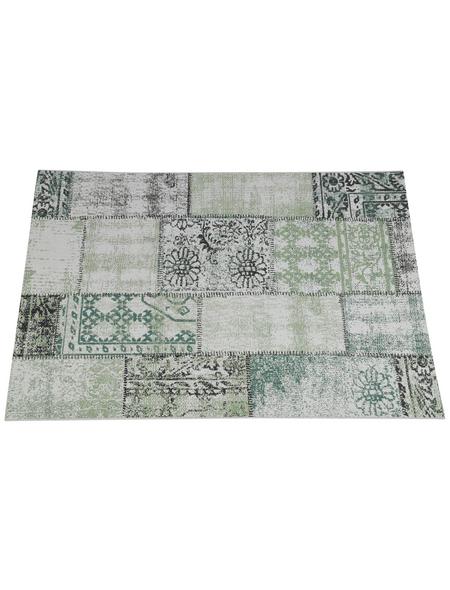 GARDEN IMPRESSIONS In- und Outdoor Teppich »Blocko«, BxL: 230 x 160 cm, grün/grau/weiß