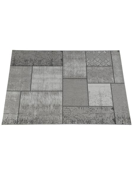 GARDEN IMPRESSIONS In- und Outdoor Teppich »Blocko«, BxL: 290 x 200 cm, dark sand/grau