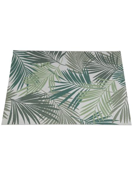 GARDEN IMPRESSIONS In- und Outdoor Teppich »Naturalis«, BxL: 170 x 120 cm, palm leaf/grün/grau/braun