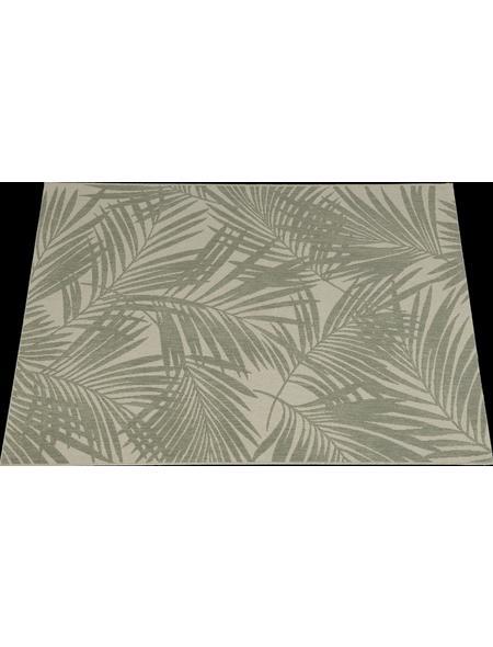 GARDEN IMPRESSIONS In- und Outdoor Teppich »Naturalis«, BxL: 170 x 120 cm, tropical leaf/braun