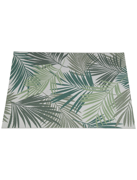 GARDEN IMPRESSIONS In- und Outdoor Teppich »Naturalis«, BxL: 230 x 160 cm, palm leaf/grün/grau/braun