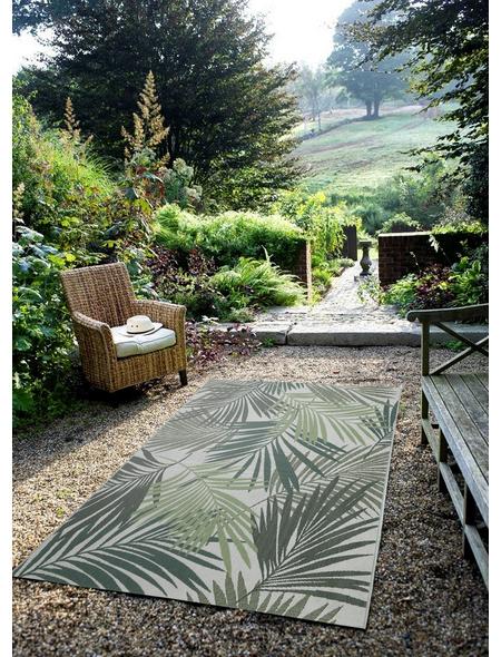 GARDEN IMPRESSIONS In- und Outdoor Teppich »Naturalis«, BxL: 290 x 200 cm, palm leaf/grün/grau/braun