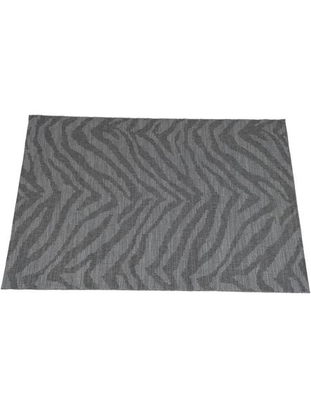 GARDEN IMPRESSIONS In- und Outdoor Teppich »Teppich«, BxL: 170 x 120 cm, Zebra grau