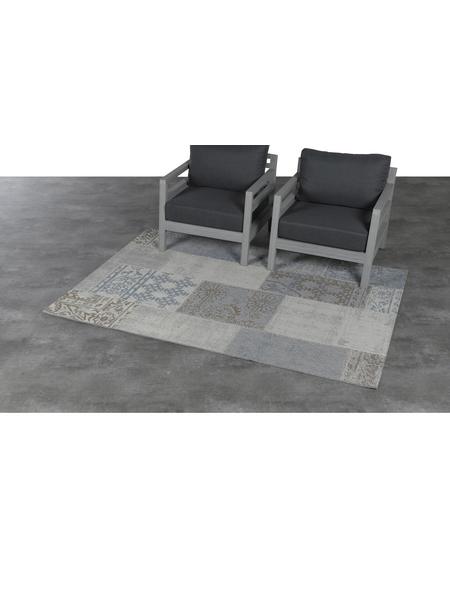 GARDEN IMPRESSIONS In- und Outdoor Teppich »Teppich«, BxL: 230 x 200 cm, grau/blau