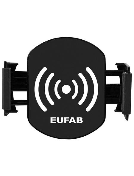 EUFAB Induktionsladegerät mit Handyhalter, LxBxH: 9,5 x 6,5 x 7,8 cm, Schwarz