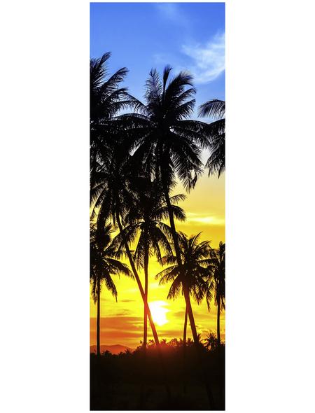 Papermoon Infrarotheizung »EcoHeat - Palmen | Sonnenuntergänge«, Glänzend