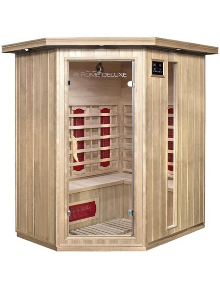 HOME DELUXE Infrarotkabine aus Hemlockholz, für 3 Personen