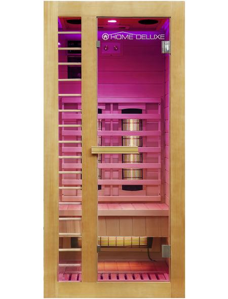 HOME DELUXE Infrarotkabine »Redsun S Deluxe« für 1 Person, Fronteinstieg, mit Farblichtanwendung