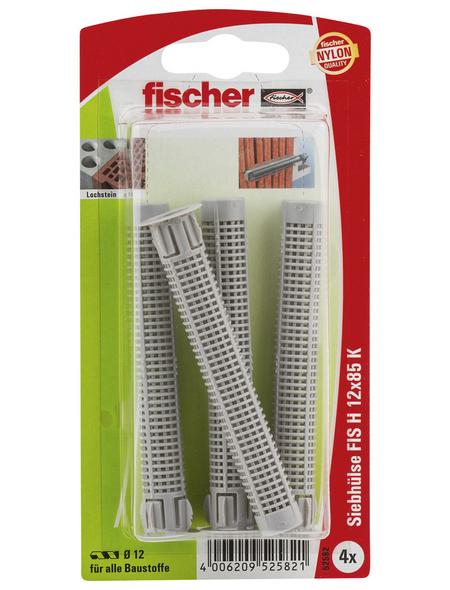 FISCHER Injektions-Ankerhülse, 4 Stück, 12 x 80 mm