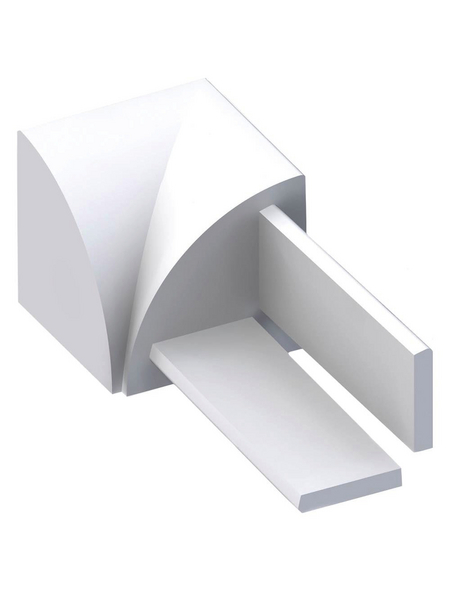 alfer® aluminium Innenecke, (4 Stk.) aus Kunststoff, für Fließenmaß 10 mm