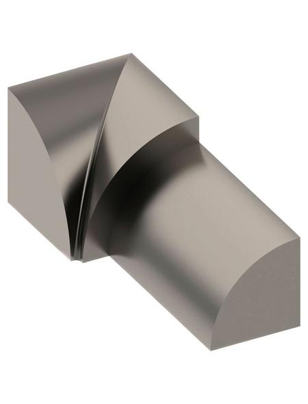 alfer® aluminium Innenecke, aus Edelstahl, für Fliesenmaß 8 mm