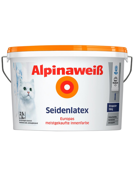 ALPINA Innenfarbe »Alpinaweiß«, seidenglänzend