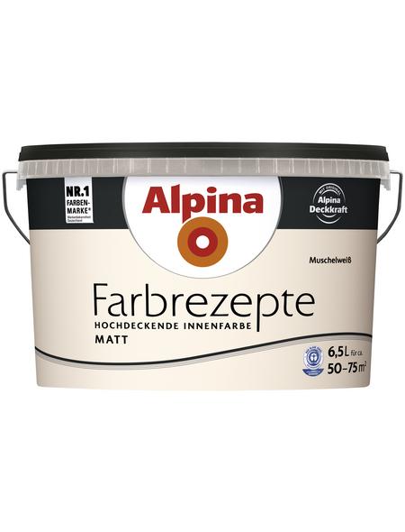 ALPINA Innenfarbe »Farbrezepte«, MuschelWeiß, matt