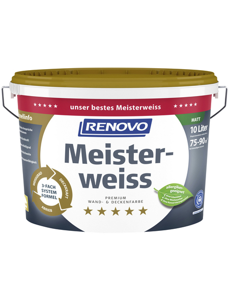 RENOVO Innenfarbe »Meisterweiss«, Weiß, matt