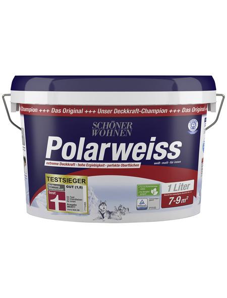 SCHÖNER WOHNEN FARBE Innenfarbe »Polarweiss«, weiss, matt