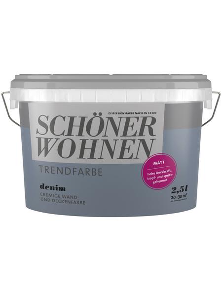 SCHÖNER WOHNEN FARBE Innenfarbe »Trendfarbe«, Denim, matt