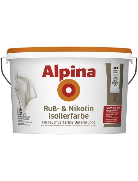 ALPINA Innenfarbe, weiß, 5 l, 8 m²/l