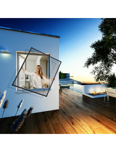 WINDHAGER Insektenschutz-Fenster »EXPERT«, 100 x 120 cm
