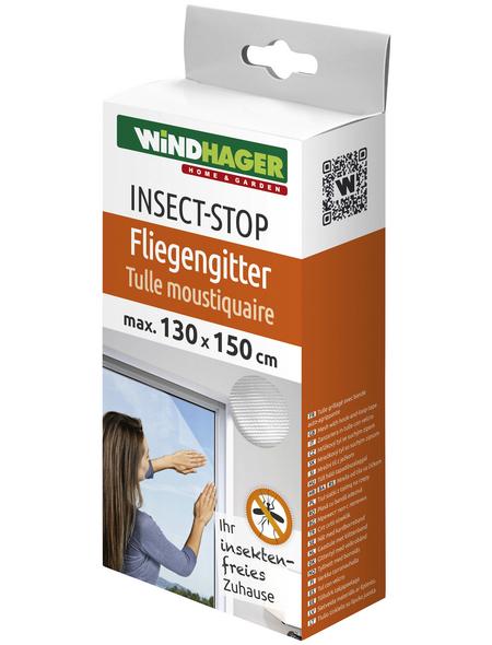 WINDHAGER Insektenschutzgitter, BxL: 130 x 150 cm, In Breite und Höhe kürzbar