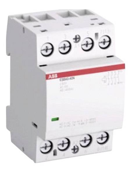 ABB Installationsschütz, 40 A, 4 Schließer REG, 230/400 V, Glühlampemleistung 15750 W, Grau