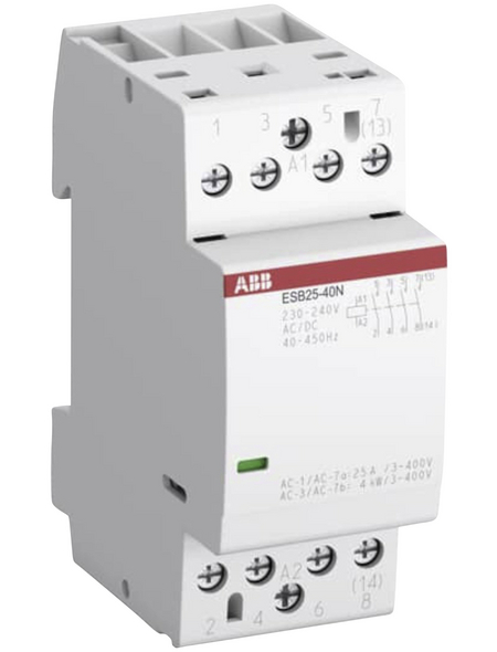 ABB Installationsschütz, Nennstrom: 25 A, Kunststoff, grau