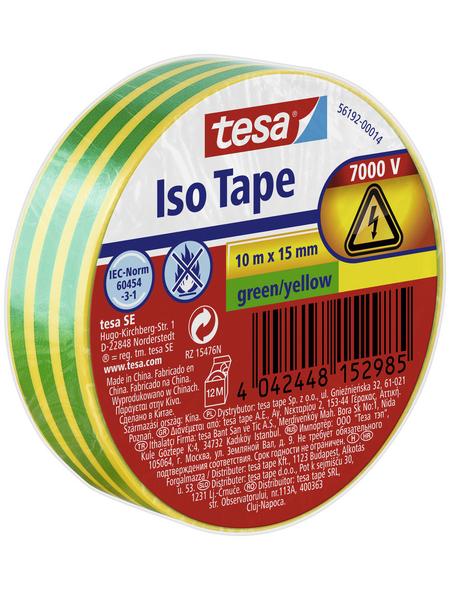 TESA Isolierband, gelb/grün, Breite: 1,5 cm, Länge: 10 m