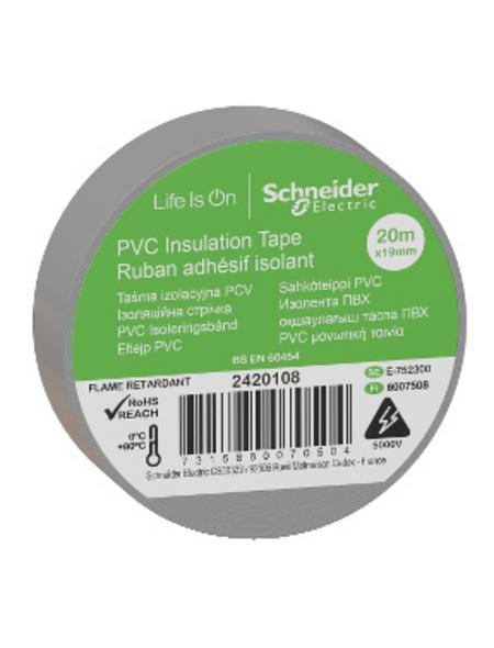 Schneider Electric Isolierband, Kunststoff, Grau, 19 mm x 20 m, Stärke: 0,15 mm