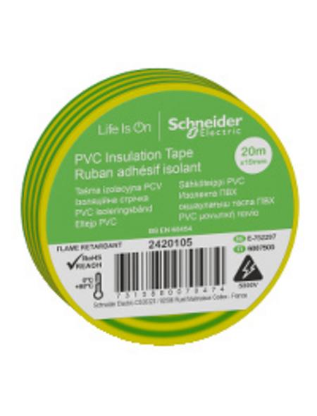 Schneider Electric Isolierband, Kunststoff, Grün, 19 mm x 20 m, Stärke: 0,15 mm