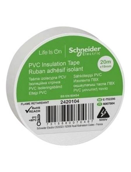 Schneider Electric Isolierband, Kunststoff, Weiß, 19 mm x 20 m, Stärke: 0,15 mm