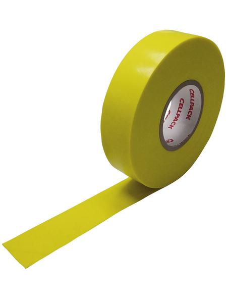 CELLPACK Isolierband, Nr. 128, Kunststoff, Gelb, 15 mm x 10 m, Stärke: 0,15 mm