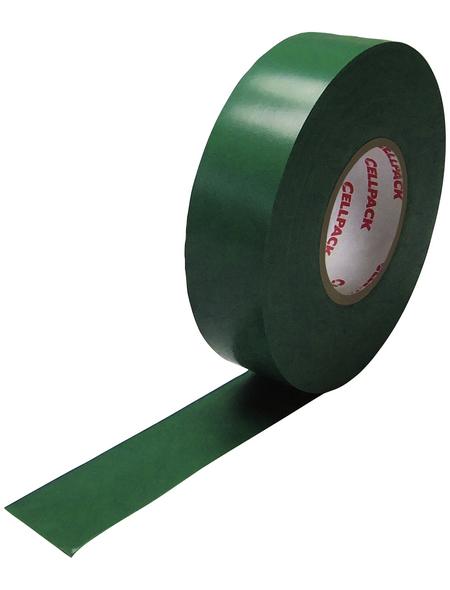CELLPACK Isolierband, Nr. 128, Kunststoff, Grün, 15 mm x 10 m, Stärke: 0,15 mm