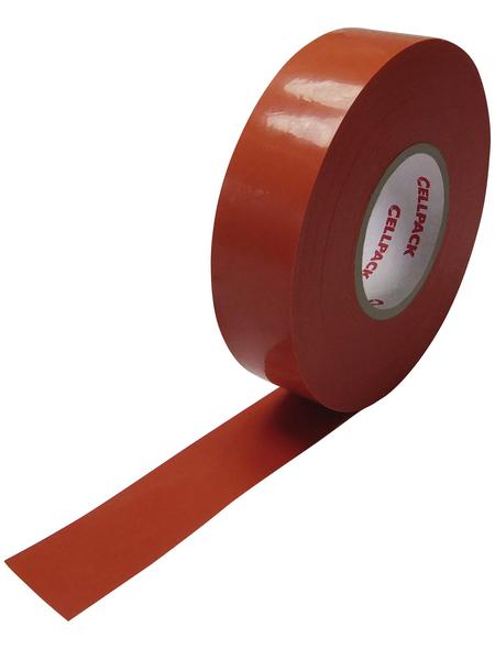 CELLPACK Isolierband, Nr. 128, Kunststoff, Orange, 15 mm x 10 m, Stärke: 0,15 mm