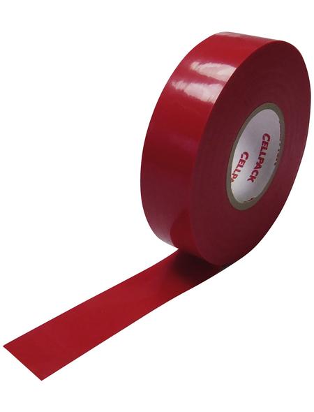 CELLPACK Isolierband, Nr. 128, Kunststoff, Rot, 15 mm x 10 m, Stärke: 0,15 mm