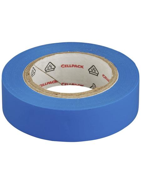 CELLPACK Isolierband, PVC, Blau, 1.000 x 1,5 x 0,02 cm