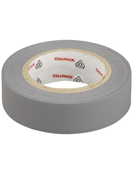 CELLPACK Isolierband, PVC, Grau, 1.000 x 1,5 x 0,02 cm