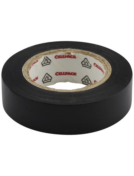 CELLPACK Isolierband, PVC, Schwarz, 1.000 x 1,5 x 0,02 cm