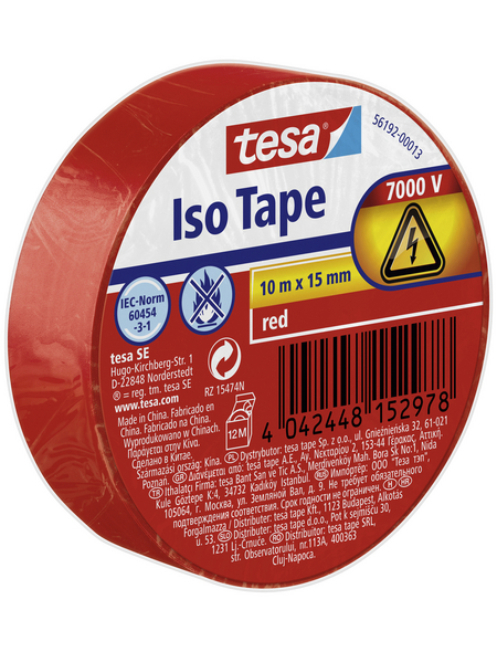 TESA Isolierband, rot