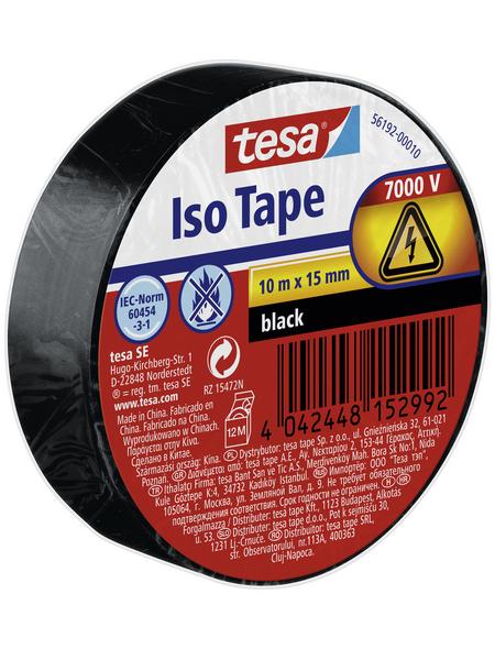 TESA Isolierband, schwarz, Breite: 1,5 cm, Länge: 10 m