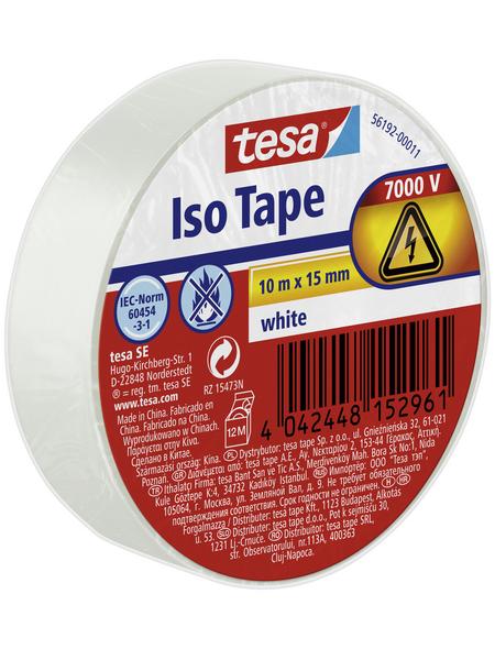 TESA Isolierband, weiß, Breite: 1,5 cm, Länge: 10 m
