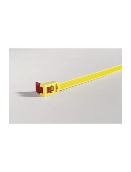 HellermannTyton Kabelbinder, 1,3 x 75,2 cm, Kunststoff, gelb