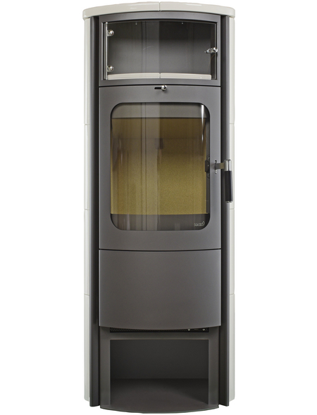 HARK Kachelofen »Opera B Grande«, 7 kW, titan/cremeweiß