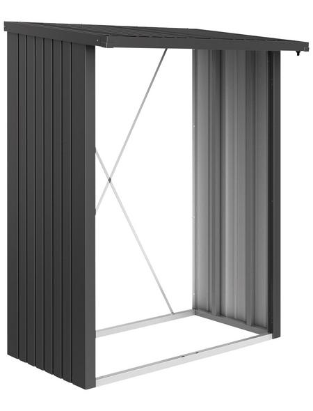 BIOHORT Kaminholzlager »WoodStock 150«, BxHxL: 157 x 199 x 102 cm, dunkelgrau-metallic