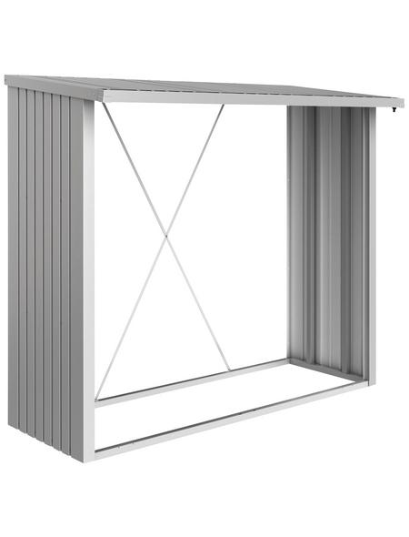 BIOHORT Kaminholzlager »WoodStock 230«, BxHxL: 229 x 199 x 102 cm, silber-metallic