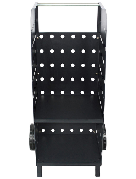 EL FUEGO Kaminholzregal »AY 499«, BxHxL: 48 x 104 x 41 cm, schwarz