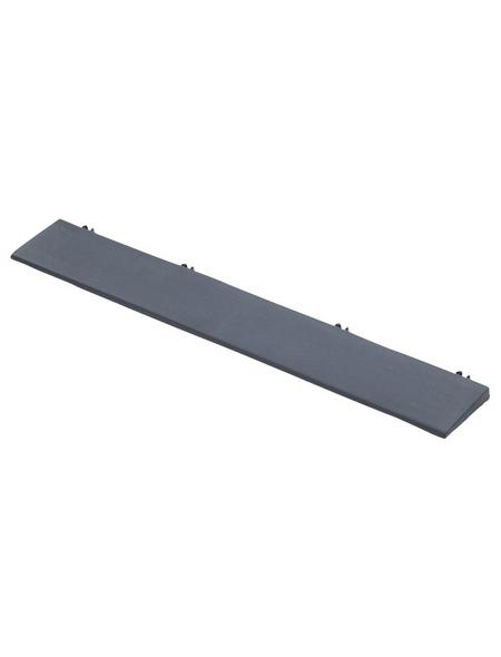 Kantenleisten, graphitgrau, LxHxB: 37 x 1 x 37 cm