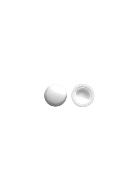SAREI Kappen für Fensterbankschrauben, 100 x 6 x 1 mm, Weiß, PVC